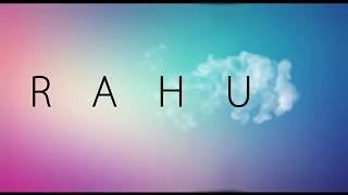 logo animation with the name rahul