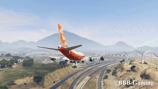 Huge Airplane Lost Control And Crash Into The Mountain | GTA 5