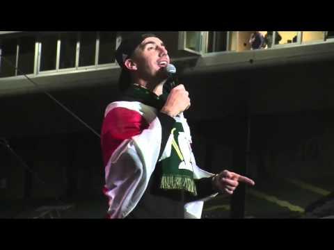 Liam Ridgewell's mic-drop moment