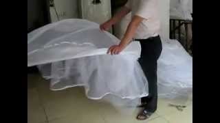 How to fold a hoop skirt crinoline petticoat 1