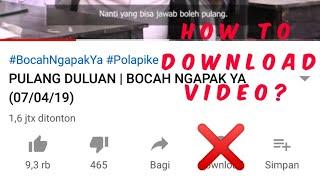 Download Cara Mendownload Video di YouTube menggunakan Savefrom.net