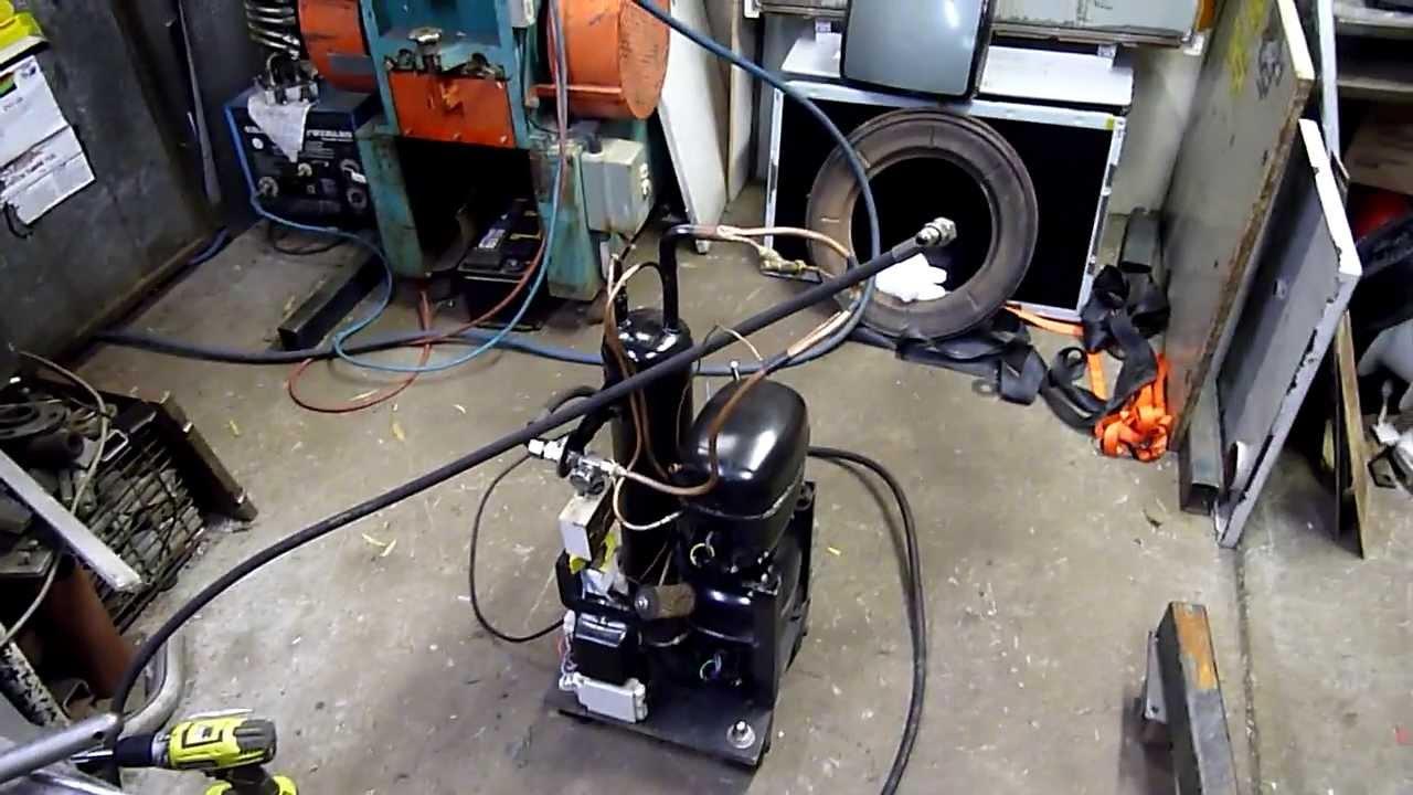 High Pressure Air Compressor Using A Pair Of Refrigeration