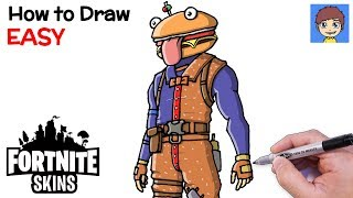 How to Draw Fortnite Beef Boss Step by Step - Fortnite Skins Drawing