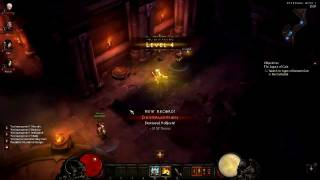 Diablo 3 Beta Patch 13 - 4 Player Co-op + Commentary P1