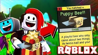 Buying My Girlfriend The Cute Puppy Bee In Roblox Bee Swarm Simulator