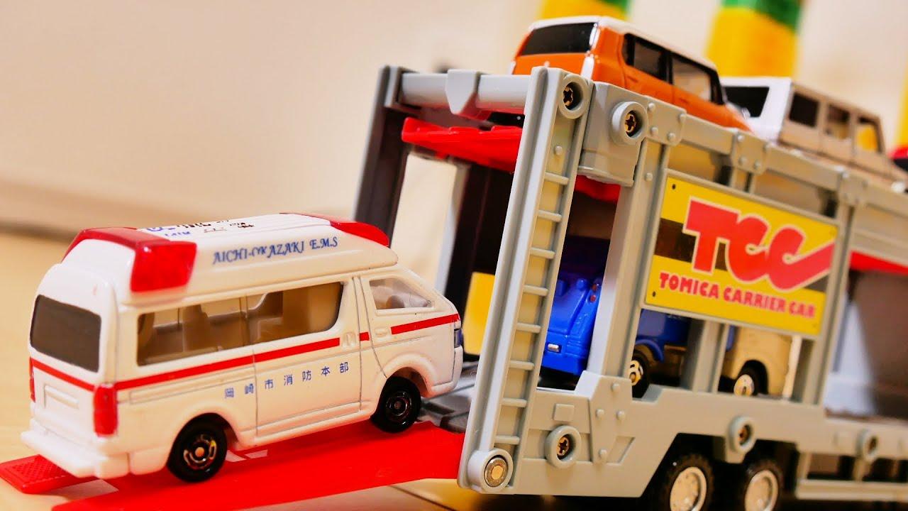 色々な車が坂道を走ってカーキャリアーに積み込まれる! Various Cars Drive a Steep Hill and are loaded into Car Transpoter