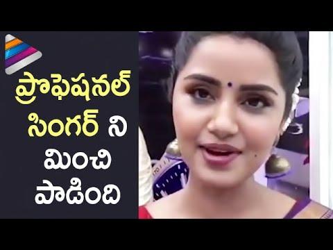 Anupama Parameswaran Singing her Latest Telugu Movie Song | Anupama Songs | Telugu Filmnagar