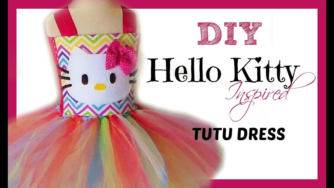 935561a2f555 D.I.Y. Hello Kitty Birthday Tutu Dress Tutorial - YouTube