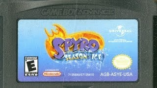 CGR Undertow - SPYRO: SEASON OF ICE review for Game Boy Advance
