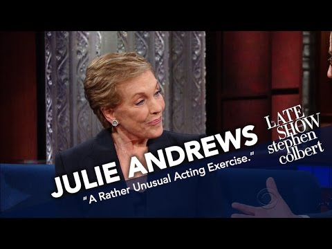 Julie Andrews Challenges Stephen To Perform With A Mouth Full Of Grapes