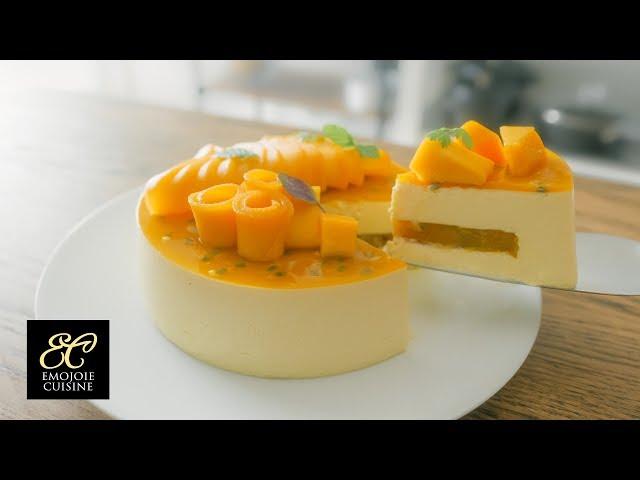 マンゴーレアチーズケーキの作り方 | No-bake Mango Cheesecake Recipe