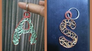 QUILLED ALPHABET KEY CHAIN TUTORIAL: Model 1(Easy and Fun Project))
