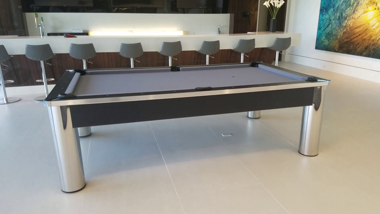 Spectrum Pool Table With Steel Grey Felt YouTube - Spectrum pool table