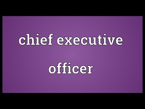 Chief executive officer Meaning