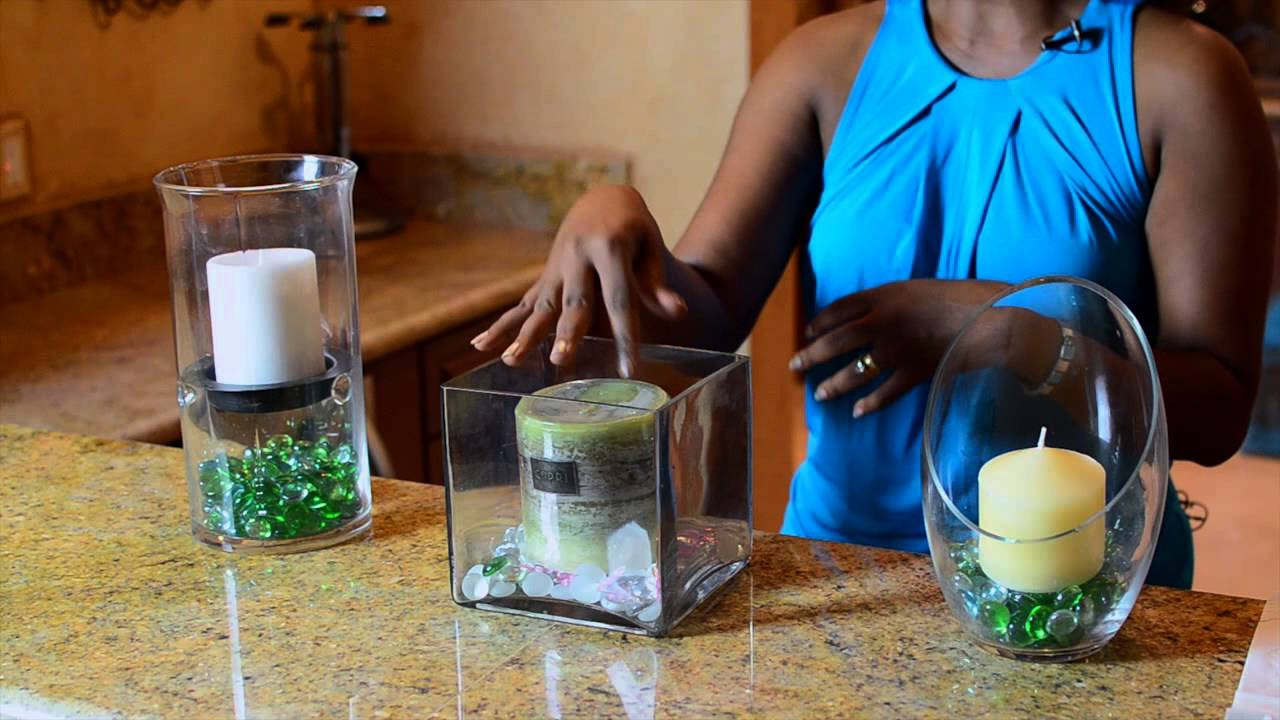 How to make a candle holder using glass rocks simple for How to make home decorations