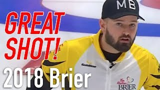 2018 Tim Hortons Brier - Reid Carruthers - Long Runback vs Ont…