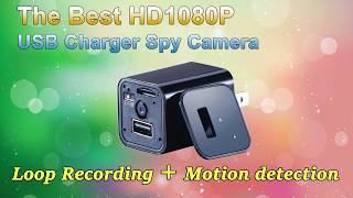 UX-8 The Best USB Charger Spy Camera loop Recording Motion detection
