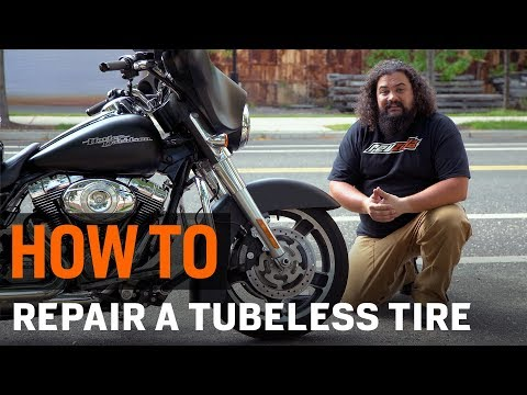 How To Repair A Motorcycle Tire