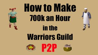 How to Make 700k an hour in the Warriors Guild A P2P Money Making Method