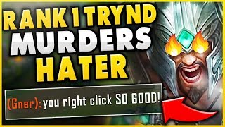 #1 TRYNDAMERE WORLD DESTROYS TRASH-TALKING GNAR *WHILE ATTACKED BY BIRD IRL*- League of Legends