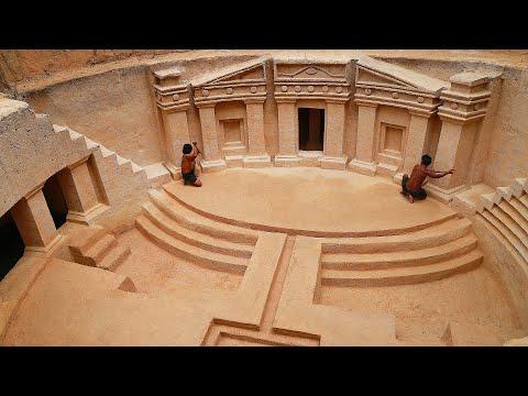 Build underground rick Swimming pool Temple house