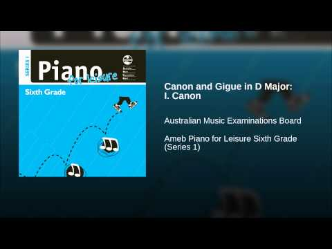 Canon and Gigue in D Major: I Canon