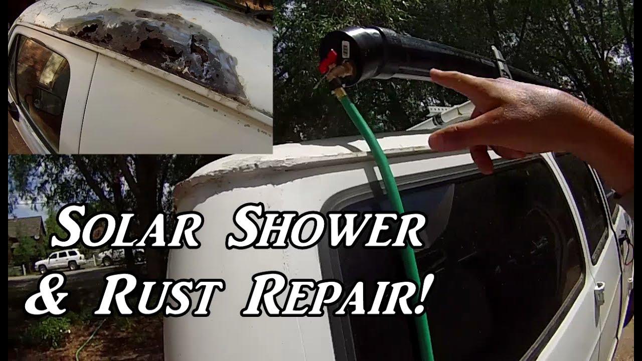 solar-shower-rust-repair-van-life-on-the-road