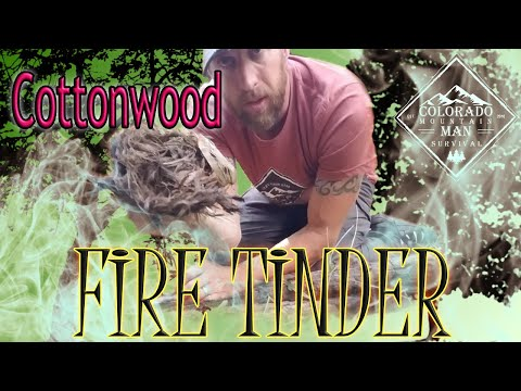 Cottonwoodbark as Tinder