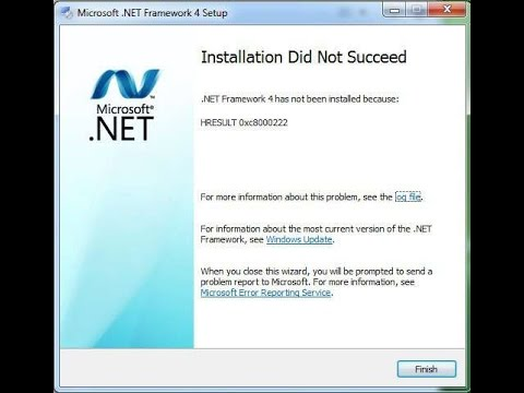 How to Fix Net Framework Installation did not succeed HRESULT ...