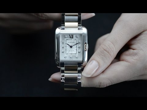 Cartier Tank Anglaise Ladies Luxury Watch   Eve s Watch   YouTube