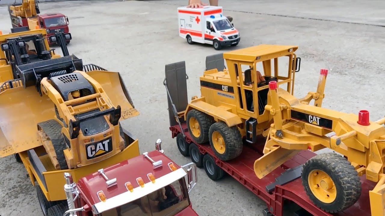 Bruder Construction Toys : Bruder toys construction truck tunnel stuck