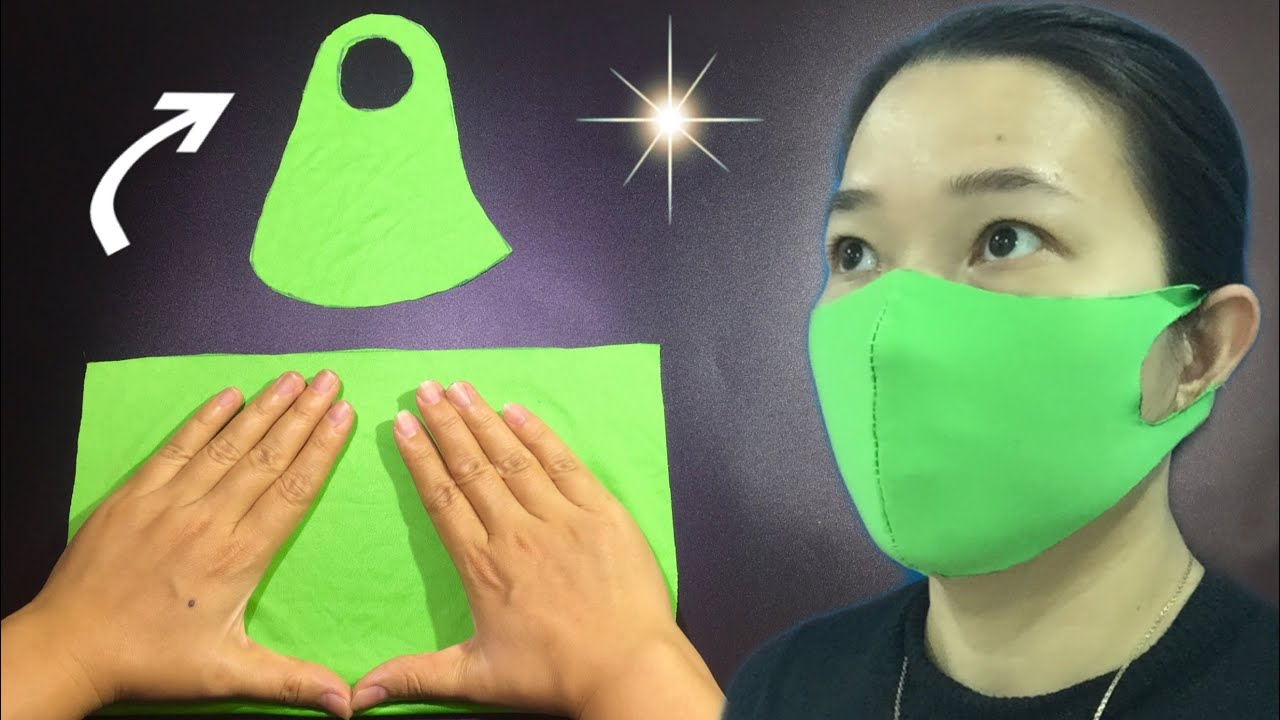 🔥NO RULER - NO SEWING MACHINE - NO ELASTIC TIE - FROM OLD CLOTHES - Only 3 minutes to make the mask