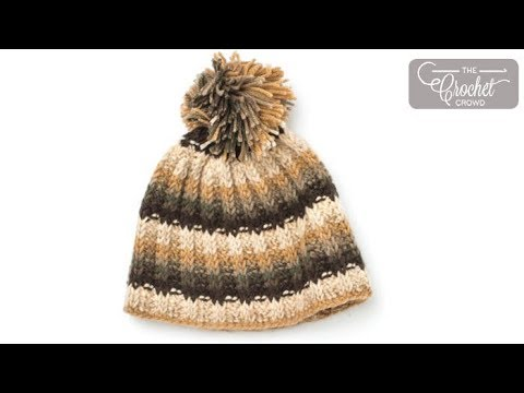 How to Tunsian Crochet: Rib Stitch Hat - YouTube
