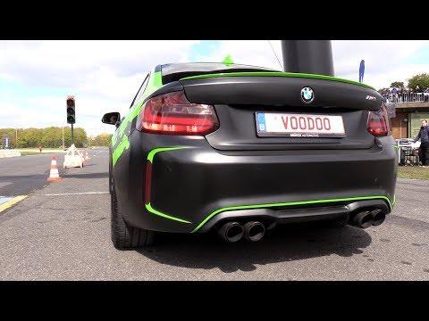 BMW M2 F87 Akrapovic Exhaust vs C63 AMG vs Audi RS6!