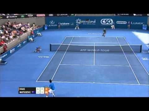 Tommy Haas v Marinko Matosevic Highlights Men's Singles Rd 1: Brisbane International 2012