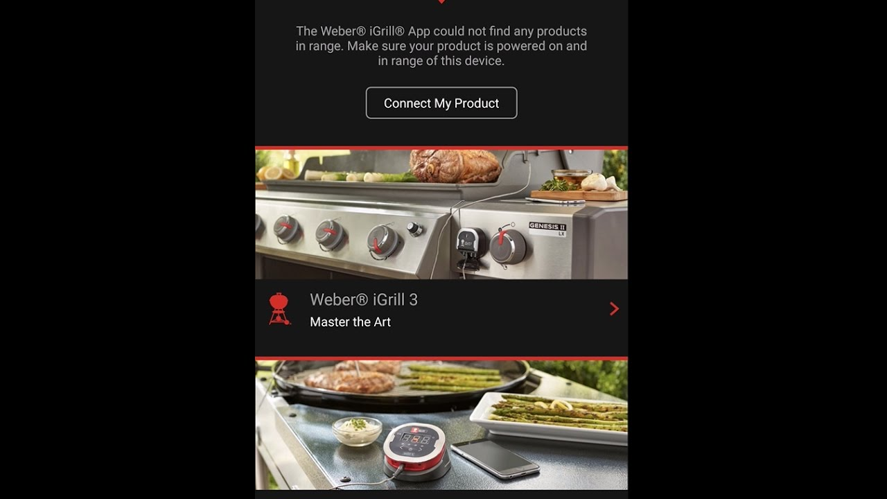 weber igrill android app - pre-setup overview - youtube