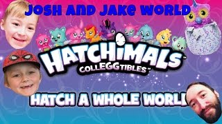 Josh and Jake World - Hatchimals Colleggtibles vs Roblox - Unboxing