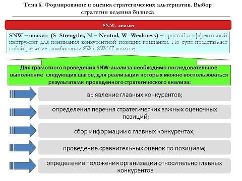 Snw анализ