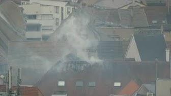Incendie rue du Marché à Mulhouse