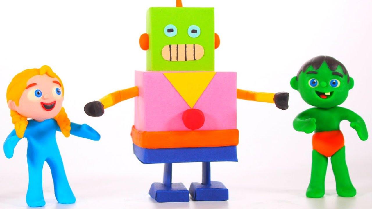 ❤ Kids Built A Robot At Home ❤
