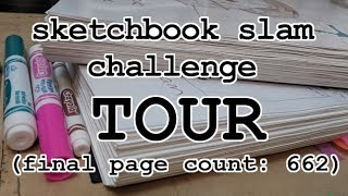 big ol' sketchbook slam challenge tour!