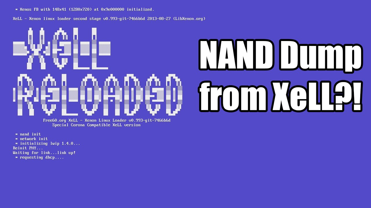 How to Dump & Flash JTAG/RGH NAND from XeLL [Tutorial]