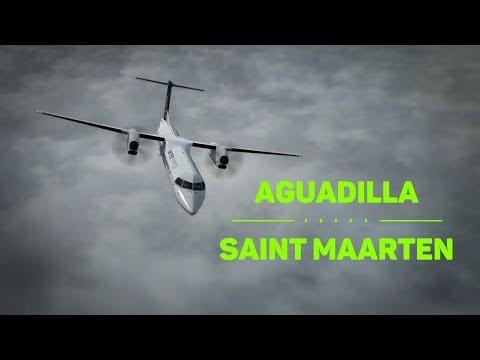 Prepar3D - Aguadilla (TJBQ) to Saint Maarten (TNCM) in the Q400