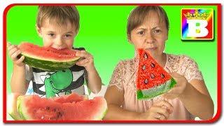 Jeleu vs Fructe Reale.  Provocare cu Mancare Din Jeleu impotriva la Mancarea Reala. Bogdan`s Show