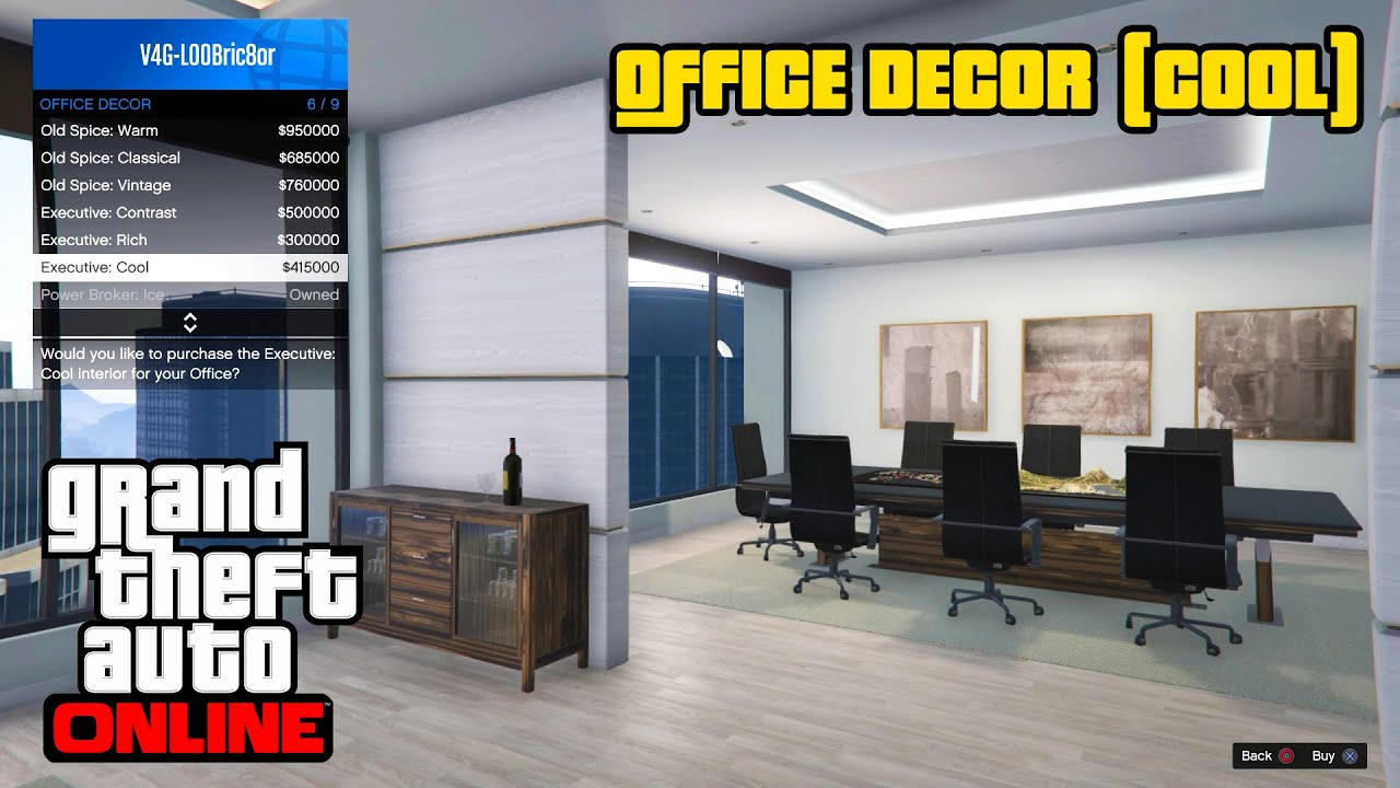 GTA 5 Online PS4 - Office Decor (Cool) - YouTube