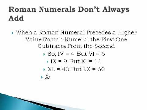 how to write a 4 in roman numeral