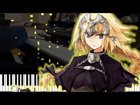 "[Fate/Apocrypha ED] ""Désir"" - GARNiDELiA (Synthesia Piano Tutorial - ピアノ Live Cover)"