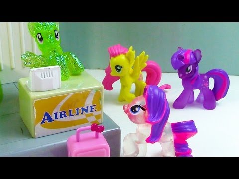 MLP Destination Vacation My Little Pony Airport Travel Part 1 Rarity Pinkie Pie Apple Bloom