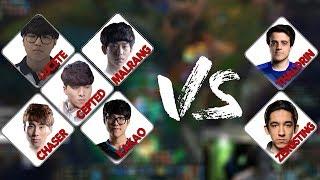 Şampiyonluk Ligindeki 5 Koreli'ye karşı Thaldrin ve Zergsting Efsane Maç!