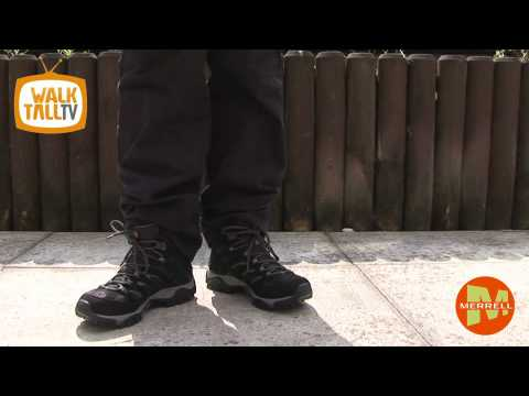 Merrell Moab GTX Black AW10 | walktall.co.uk | Large Mens Footwear & Clothing |